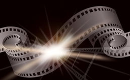 Dark Cinema film background. With a camera film Royalty Free Stock Images