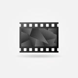 Dark cinema filmstrip logo. Cinema filmstrip logo template - dark vector movie icon concept Stock Photos