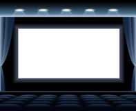 Dark Cinema Hall Stock Photography