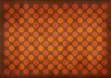 Dark circles retro pattern background. Dark circles retro pattern on a grungy brown background vector illustration