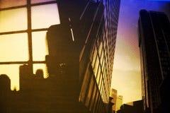Dark City. Cartoon skyscrapers; New York City Stock Photography