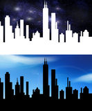 Dark city Royalty Free Stock Photos