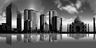 Dark city Stock Photos