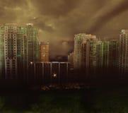 Dark city abstract royalty free illustration