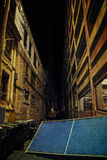 Dark City Alley at Night Royalty Free Stock Image
