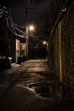 Dark City Alley Stock Photography