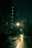 Dark City Alley. Dark Urban Alley at Night Stock Images
