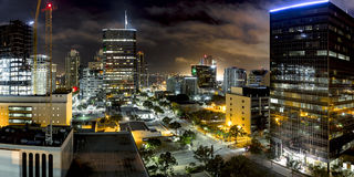 Dark City Downtown San Diego royalty free stock photography