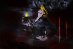 Dark city fashion girl Royalty Free Stock Photography