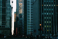 Dark City Street. In downtown Chicago Stock Images