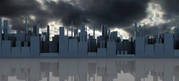 Dark cityscape Royalty Free Stock Image