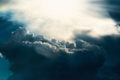 Dark cloud royalty free stock photo