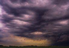 Dark cloud. Just before the storm - the atmosphere of terror Royalty Free Stock Image
