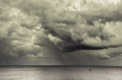 Dark cloud day. Dark cloud on sea in thailand Royalty Free Stock Images