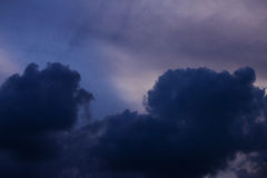 Dark Cloud. Dark sky before rain. in the everning time stock images