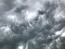 Dark cloud before a thunderstorm. Royalty Free Stock Photo