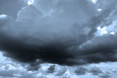 Dark clouds. Storm clouds. Dark clouds. Dramatic Stock Image