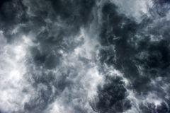 Dark clouds. Heavy rain before the dark clouds Stock Image