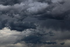 Dark clouds Stock Images