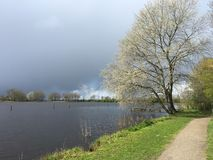 Dark clouds above the Potten Stock Images