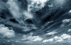Dark clouds. Background of dark clouds before a thunder-storm Royalty Free Stock Photos