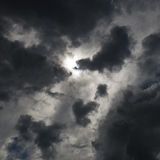 Dark clouds. Background of dark clouds before a thunder-storm Stock Image