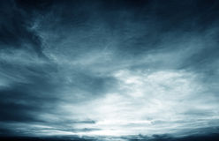 Dark clouds Stock Photography