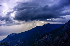 Dark clouds. The black clouds in the mountain area of West Sichuan Royalty Free Stock Photography