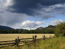 Dark clouds Canadian landscape Royalty Free Stock Image