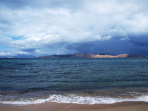 Dark clouds on Crete Royalty Free Stock Image