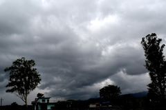 Dark clouds don`t always mean rains. royalty free stock images