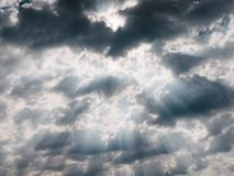 Dark Clouds Fade Away by the Sunlight Royalty Free Stock Photos