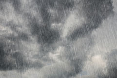 Dark clouds with falling rain Royalty Free Stock Photography
