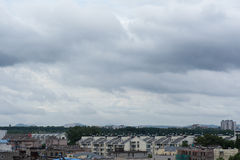 Dark clouds. Clouds floating over the city , summer, Nanjing Royalty Free Stock Photo