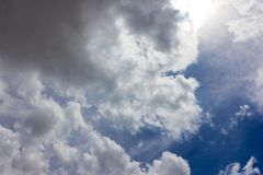 Dark clouds forming. On the sky Stock Photos