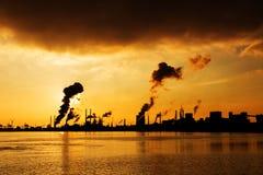 Dark clouds industry stock photos