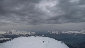 Dark Clouds on Le Brevent 2525m stock footage