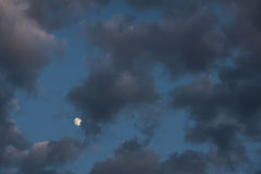 Dark clouds and moon Royalty Free Stock Images