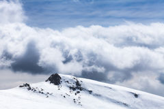 Dark clouds in the mountains Royalty Free Stock Photos
