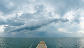 Dark clouds over the Black Sea Stock Image