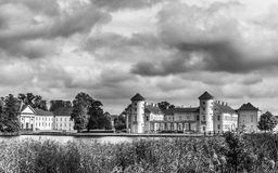 Dark clouds over the Castle Rheinsberg. Germany Stock Photos