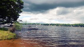 Dark clouds over Lake Stock Photos