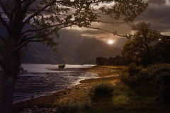 Dark Clouds over Loch Leven Stock Images