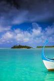 Dark clouds over maldives Stock Photos