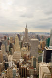 Dark clouds over Manhattan, NY. The skyline of Manhattan, New York on a cloudy day Stock Image