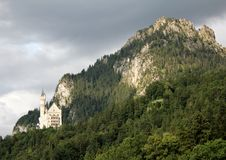 Dark clouds over Neuschwanstein Castle Stock Images