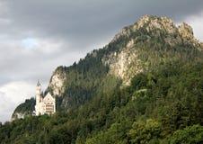Dark clouds over Neuschwanstein Castle Stock Images