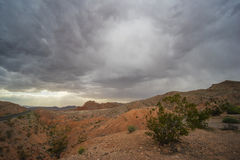 Dark Clouds over Nevada Desert Royalty Free Stock Image