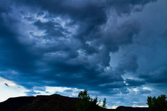 Dark clouds over New Mexico Royalty Free Stock Photos