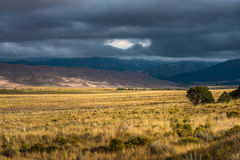 Dark Clouds over the Sand Dunes Colorado USA Landscapes Royalty Free Stock Photo